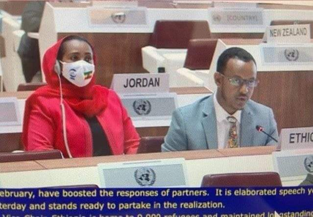Ethiopia is represented by Mr. Tesfahun Gobezay, Directore General for Agency for Refugees and Returnees Affairs- ARRA and his Deputy Mrs. Teyiba Hassen at the 72nd Session of the Executive Committee of the High Commissioner's Programme held 4-8 October 2021 in Geneva.